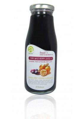 Thai Wild Berry Juice Plus Collagen, Natural Fiber & Passion Fruit Juice