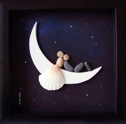 Wedding gifts original pebble art 57 ideas - Hochzeitsgeschenk