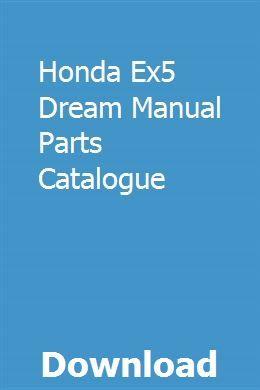 Honda Ex5 Dream Manual Parts Catalogue download pdf