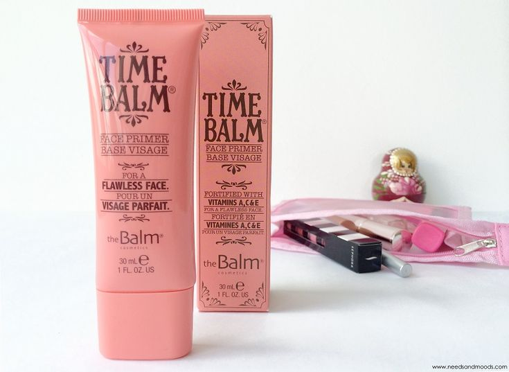 Time Balm Face Primer - TheBalm. Base de maquillage visage.  http://www.needsandmoods.com/time-balm/  @thebalm @birchboxfr #thebalm #balm #maquillage #make-up #makeup #blog #blogbeauté #beauty #beauté #beautyaddict #pink #vintage #rétro #produits