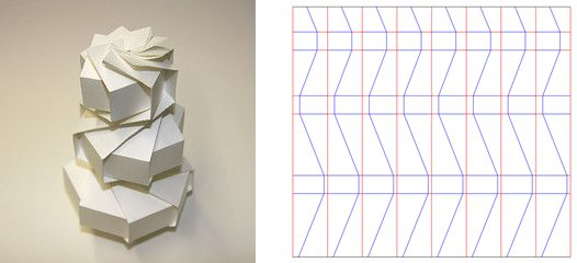Folding patterns by Jun Mitani