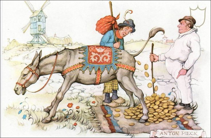 The donkey whose droppings were gold - Tales of the Efteling by Martine Bijl and Anton Pieck