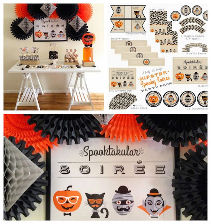 Hipster Spooky Soiree via Kara's Party Ideas KarasPartyIdeas.com Cake, decor, cupcakes, recipes, and more! #halloween #halloweenparty #spookysoiree (1)