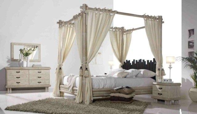 idea originales cama con respaldo de bambú