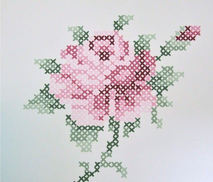 inredning inreda pyssel handarbete tips ide inspiration rose shabby chic dekorera måla väggdekoration