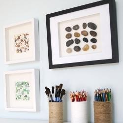 Yes! I'm so doing these pebble pictures with real pebbles...why didn't I think of that!