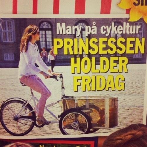 Denmark Crown Princess Caught on a Cargo Bike