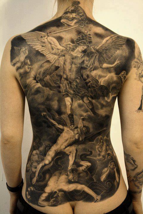 angels vs. demons | Tattoos | Pinterest