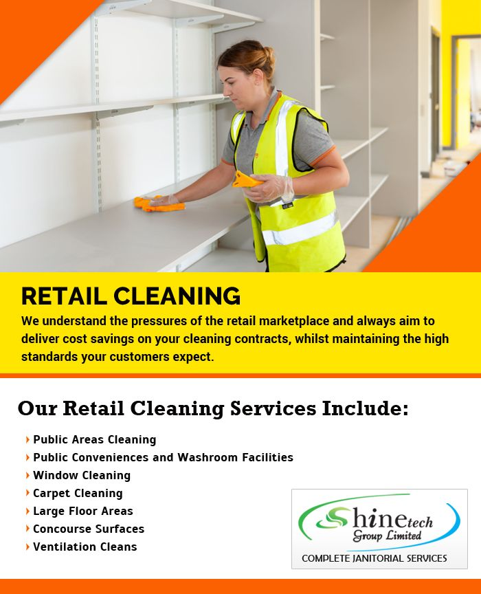 Brilliant #retail #cleaning #services by Shinetech Group. Weekly, Bi-Weekly, Monthly, One-Time, Move-In, Move-Out. goo.gl/gss6e3