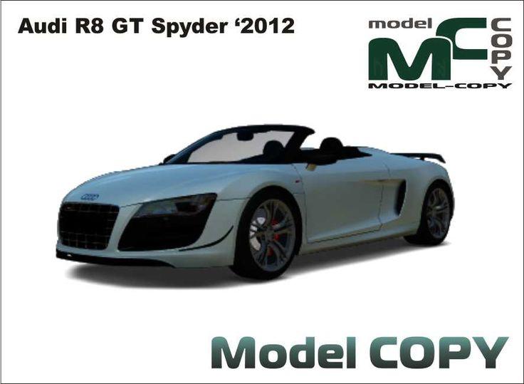 Audi R8 GT Spyder '2012 - Modello 3D - Model COPY