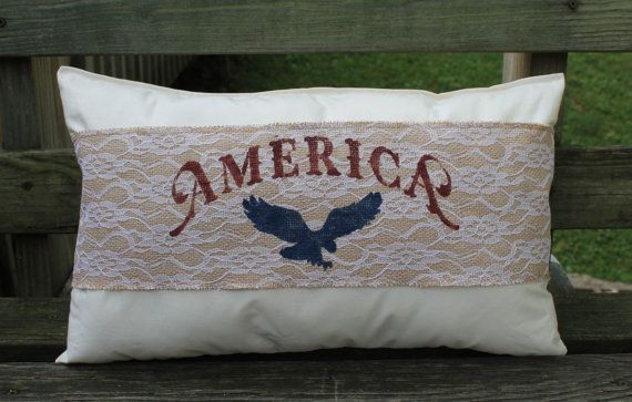 Military Decorative Pillow America  Armed Forces Gift Home Decor