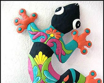Metal Art Metal Frog Wall Hanging Haitian Hand by TropicAccents