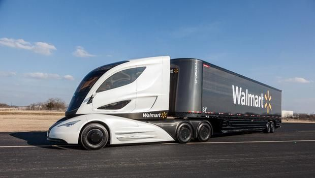 A Fuel-Efficient Big Rig From Walmart That Looks Like a Smushed Corvette