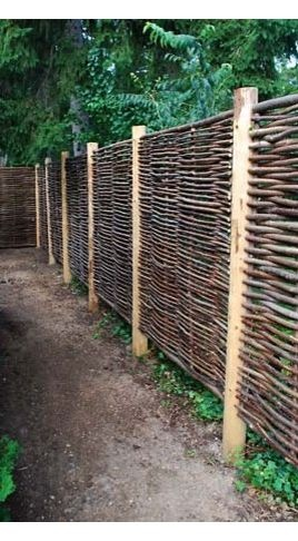 36 best images about fences and fence panels on pinterest for Natural privacy fence
