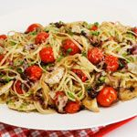 One of our most popular recipes, just one skillet is needed to cook the chicken and cherry tomatoes while the linguine boils away. Toss everything together when cooked and serve in just 20 minutes or less.