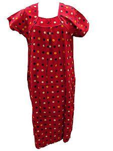 Trendy Holiday Fashion Cotton Nightgown Boho Gypsy DOT Print Long Maxi Dress | eBay