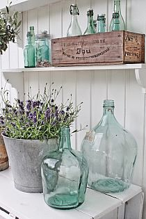 bottle ideas for the kitchen hutch