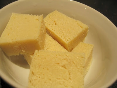 Frozen Tofu: Easy version of haloumi cheese for vegans and great dairy-free option.