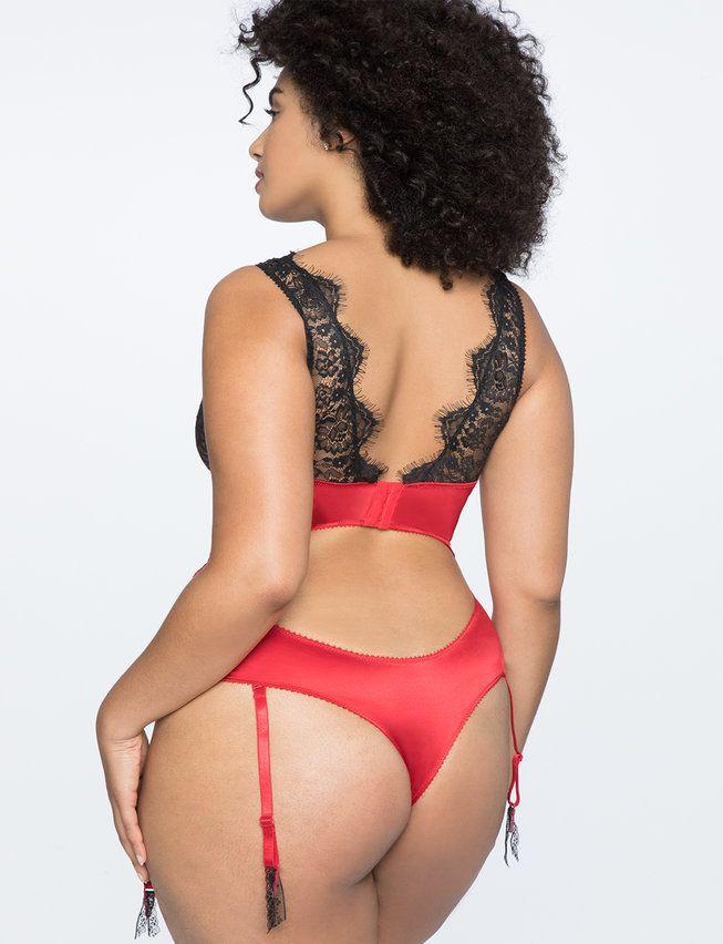 a4d0b356903 Eyelash Lace Plunge Neckline Bodysuit | Black | Plunging neckline ...