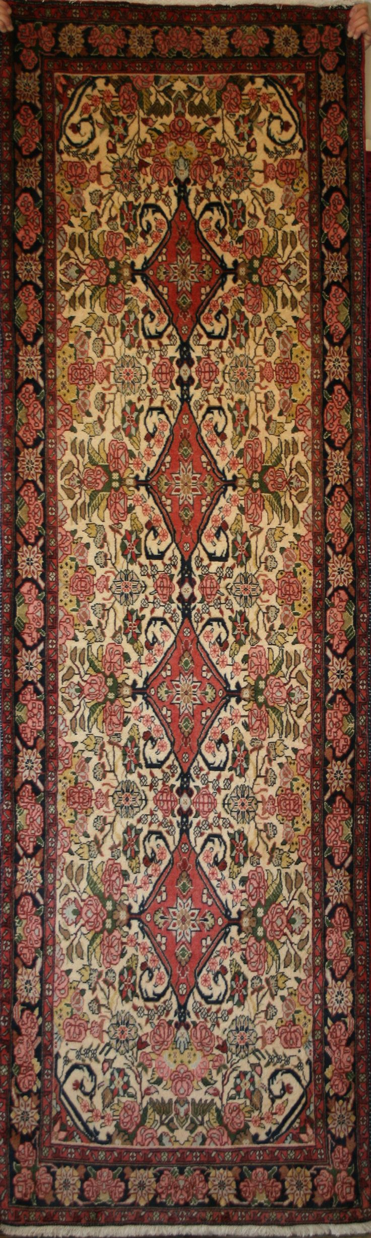 A Hand Knotted Bijar Rug Handmade In Iran