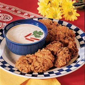 Chicken-Fried Cubed Steaks Recipe -Here in the Ozarks, country-fried steak is a staple. These are wonderful served with mashed potatoes and some freshly baked rolls. I developed the recipe to meet the spicy tastes of my family—our six children range from 26 to 14.—Toni Holcomb, Rogersville, Missouri