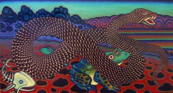 "The Peaceable Kingdom Oil On Canvas 24"" X 48"" 2011"