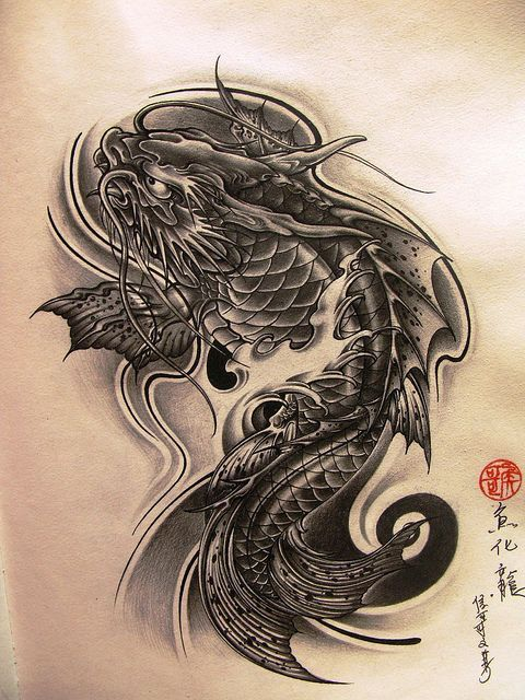 42 best koi dragon tattoo drawings images on pinterest dragon tattoos koi dragon tattoo and. Black Bedroom Furniture Sets. Home Design Ideas