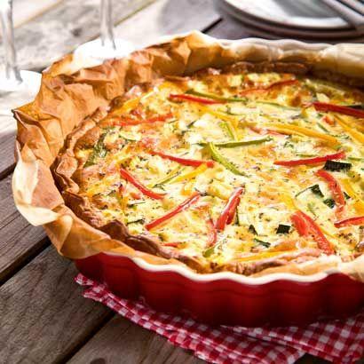 ALDI België - Recept - Quiche met mozzarella, paprika en courgette