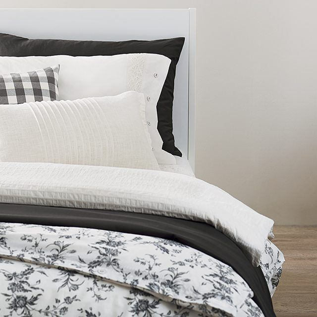 Cozy up to a stylish new look for your bed, like this ALVINE KVIST duvet cover. With a cover this nice, you'll be ready to wake up.  #IKEA