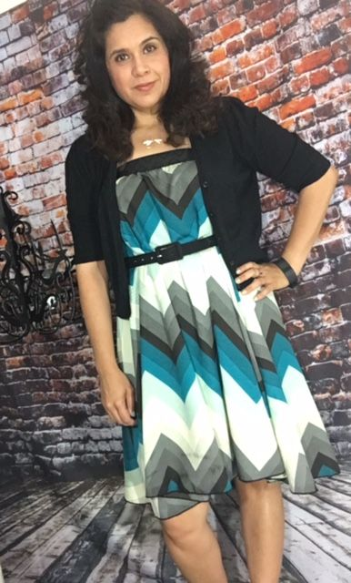 Love the LuLaRoe Lola as a dress. I added a belt and a cardigan and I am ready for work!  Lularoe Laura Medina