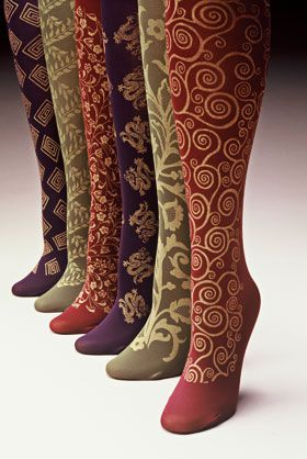 ZOMG...delicious hand-printed socks and velvet gloves!  Polonova.com