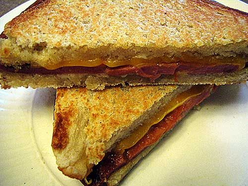 Fried Bologna sandwich  No matter how you make it, it's–  –Hillbilly Heaven!   Pass the potato chips.