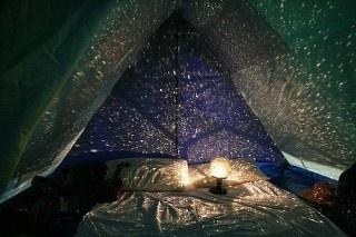 pseudo night sky tent