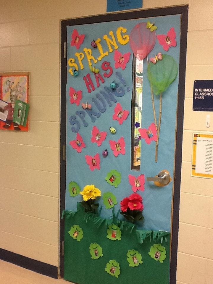 Classroom Decor Spring ~ Classroom door spring has sprung school ideas