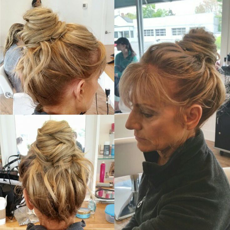 how to make a messy top knot bun