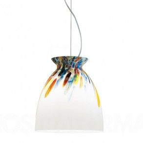 Alt Lucia Alternative Pendant in transparent glass with a shot of multicolour across the top. Simple shape, great detail. More at:  http://www.williedugganlighting.com/shop/alt-lucialternative-italy