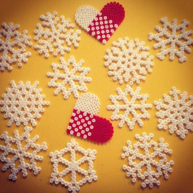 Christmas ornaments perler beads by linneea_s