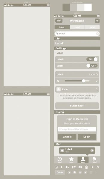 wireframe-beige http://blog.mengto.com/how-to-wireframe-an-iphone-app-in-sketch/
