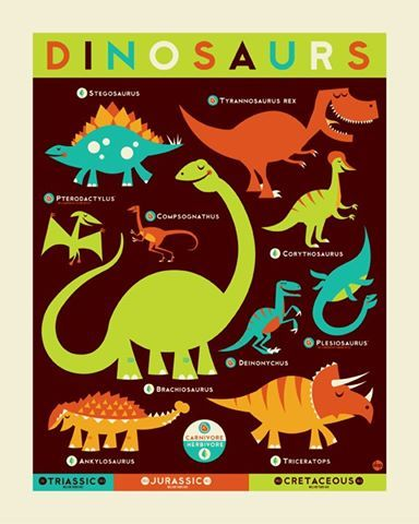 Cute dinosaur poster
