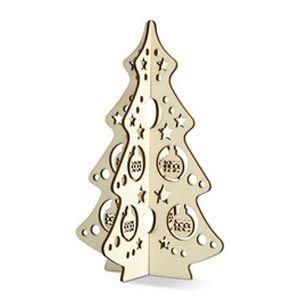 Árbol navideño de decoración hecho de madera. Formado por 2 piezas entrelazadas que forman un árbol 3D. MERCHANDISING REGALO PROMOCIONAL EN NAVIDAD - DECORACION - ÁRBOL NAVIDEÑO