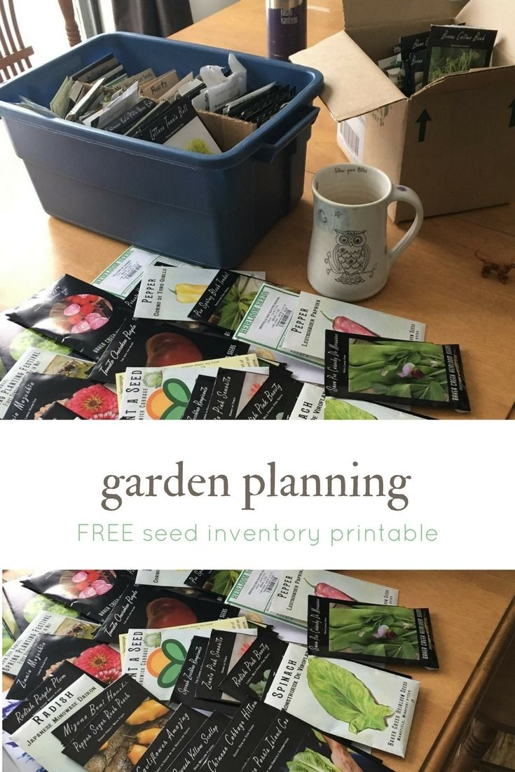Free garden planner- seed inventory printable
