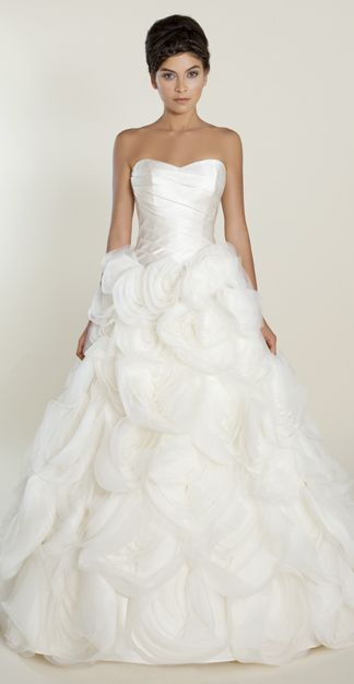 Pierretta ball gown with layered silk organza skirt and for Fitted ball gown wedding dress