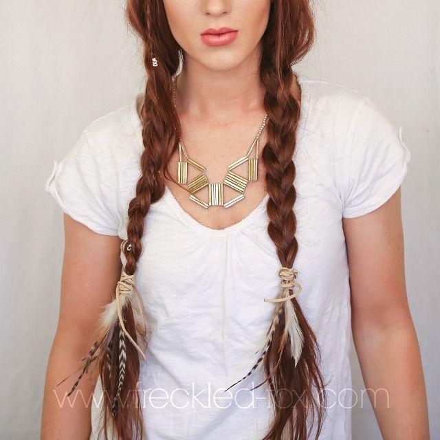 Hippie feather braids
