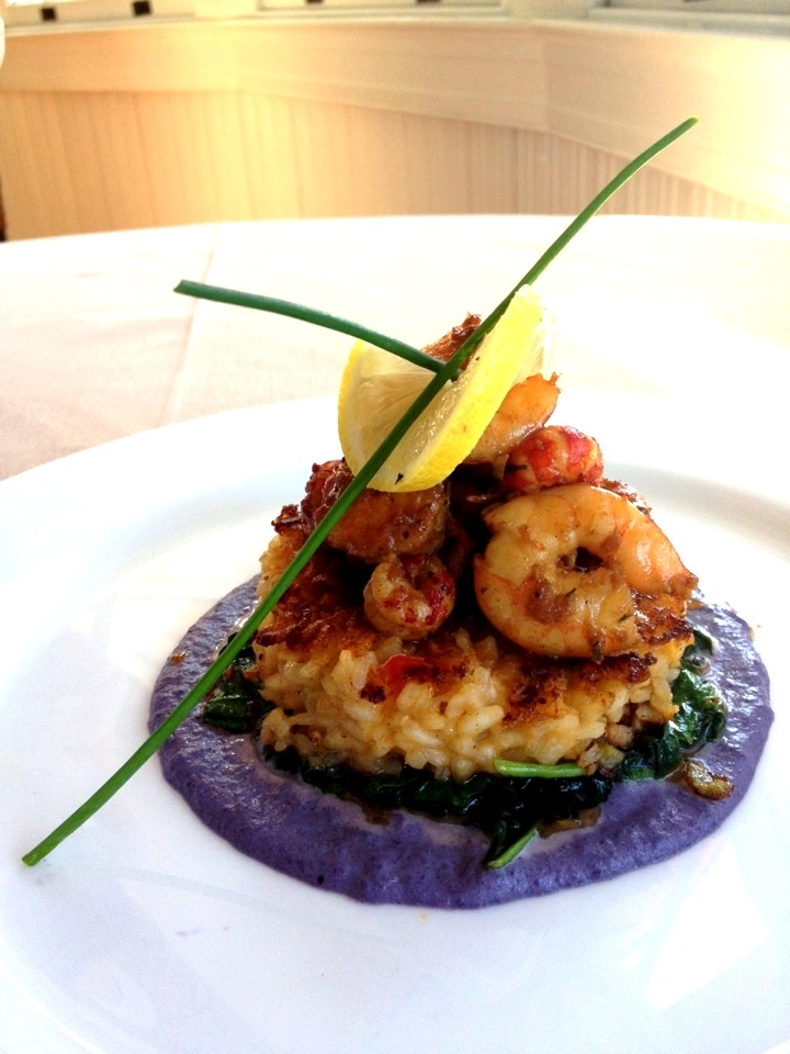 Grand Dining Room Lunch Special Creole Risotto Cake Under