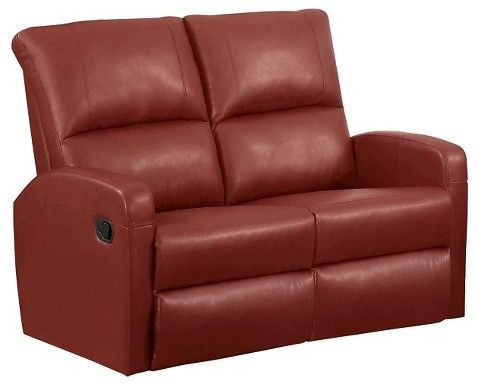 Sofa Sale Monarch Specialties Bonded Leather Reclining Sofa EveryRoom