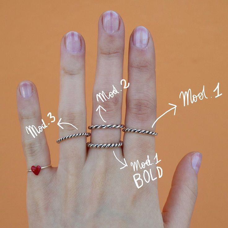 Anello intrecciato a mano Mod. 1 BOLD brunito - argento 925
