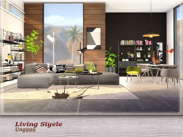 Ung999 S Living Siyele In 2020 Sims 4 Cc Furniture Living Rooms Sims House Sims 4 Cc Furniture