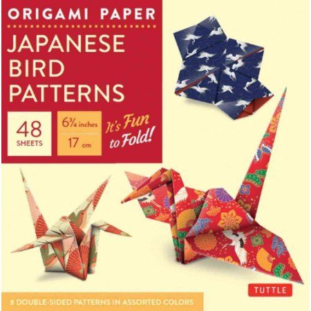 Origami Paper - Japanese Bird Patterns - 6 3/4 inch - 48 Sheets: Tuttle Origami Paper: High-quality Origami Sheets Printed With 8 Different Patterns: Instructions for 7 Projects Included