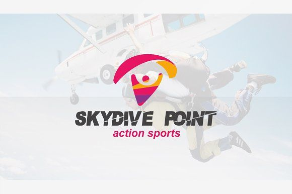 Skydive & Paragliding Logo by floringheorghe on @creativemarket