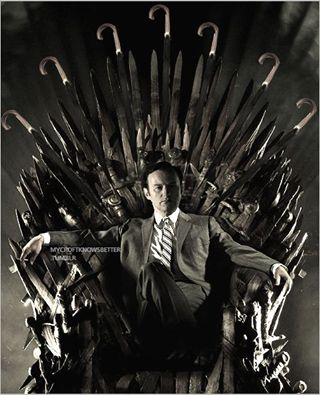 Mycroft Holmes on the Umbrella Throne...